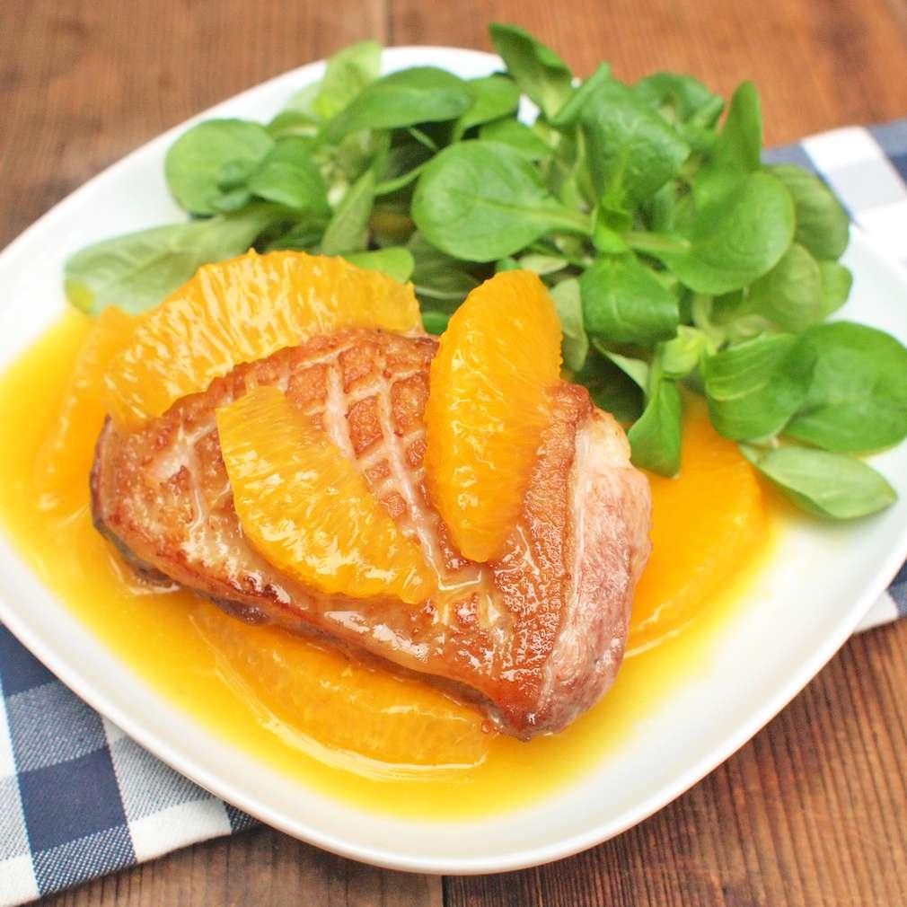 Zobrazit Kachní prsa na pomerančích receptů