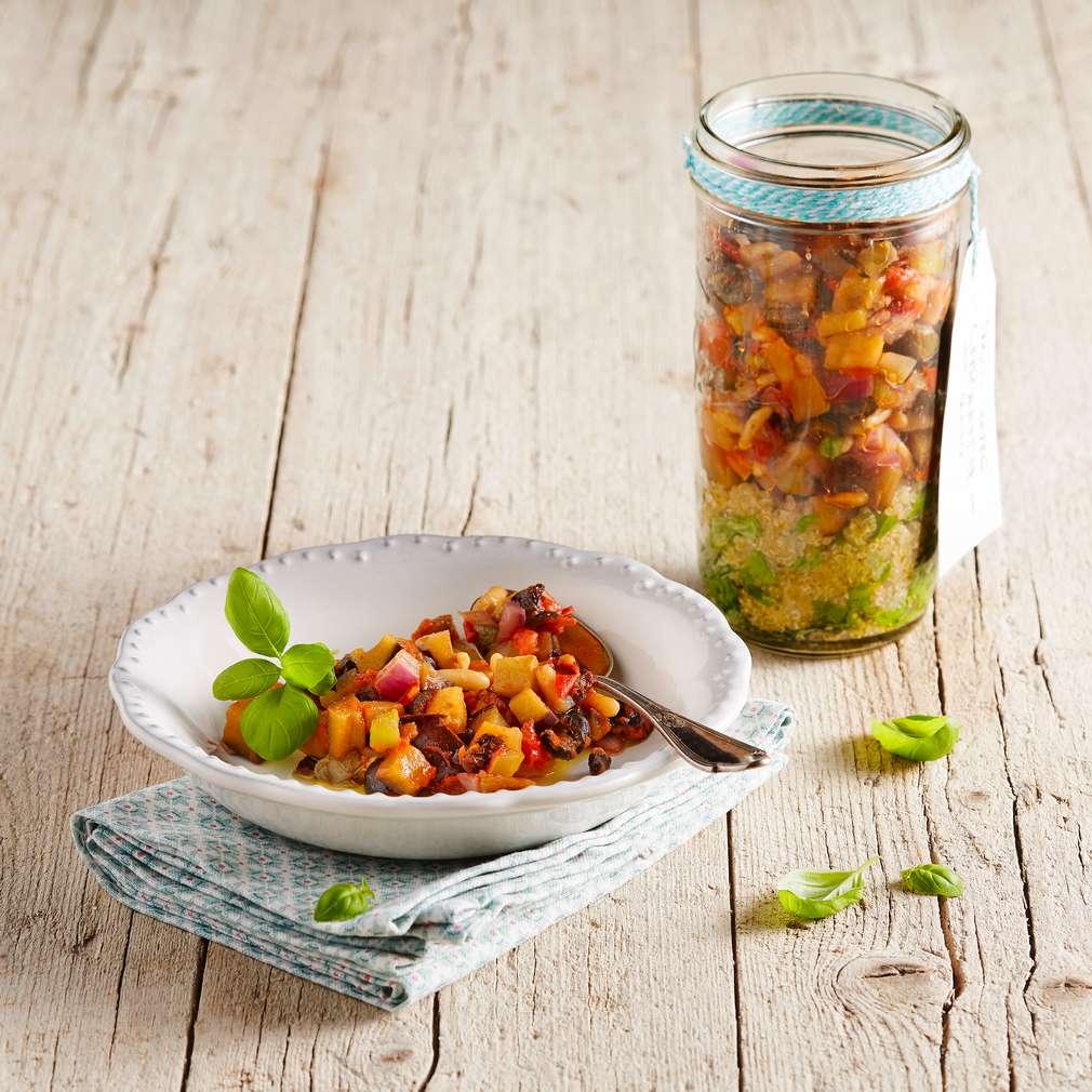 Abbildung des Rezepts Süß-saure Caponata mit Quinoa