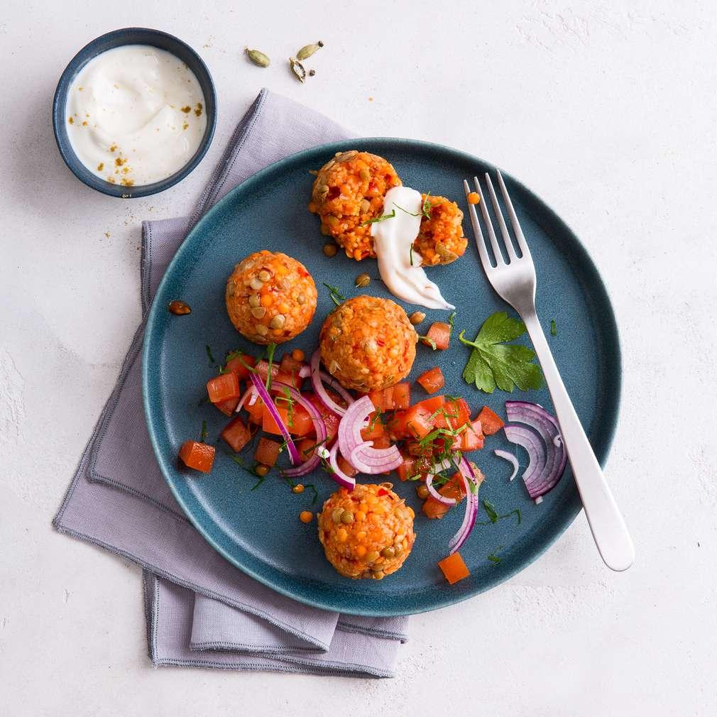 Zobrazit Pikantní kuličky z bulguru a čočky receptů