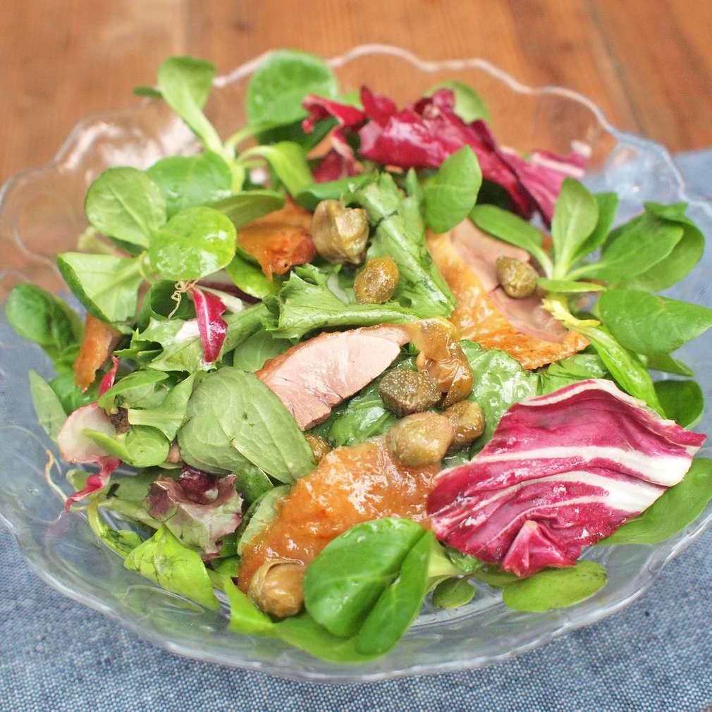 Zobrazit Salát ze zbytků kachní pečeně receptů