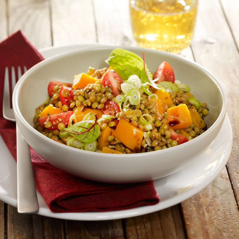 Zobrazit Čočkový salát s dýní receptů