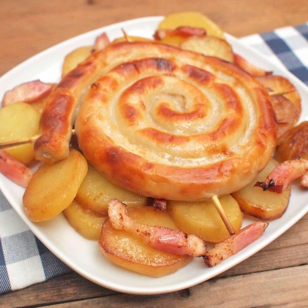 Zobrazit Zapékaná vinná klobása s bramborem receptů