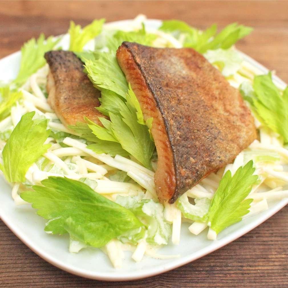 Zobrazit Siven s celerovým salátem receptů