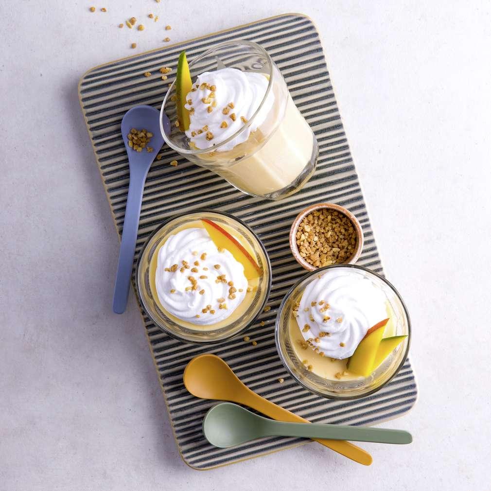 Abbildung des Rezepts Dinkel-Dessert mit Mango und Aprikose