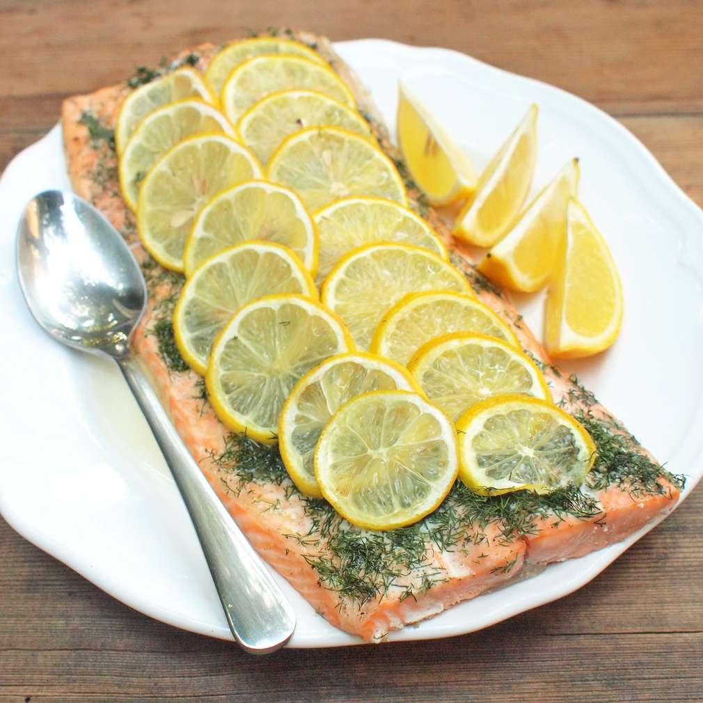 Zobrazit Pečený filet z lososa receptů