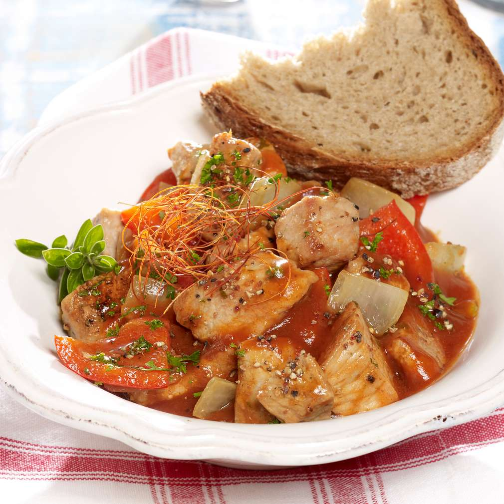 Abbildung des Rezepts Paprika-Zwiebelfleisch