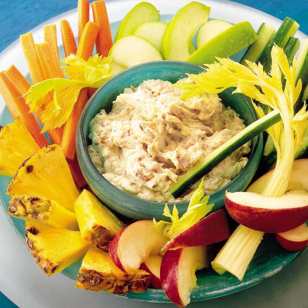 Imaginea rețetei Dip picant cu fructe și ricotta