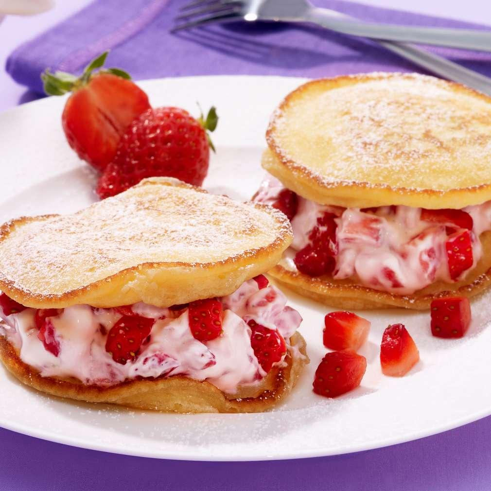 Abbildung des Rezepts Pancakes mit Erdbeeren
