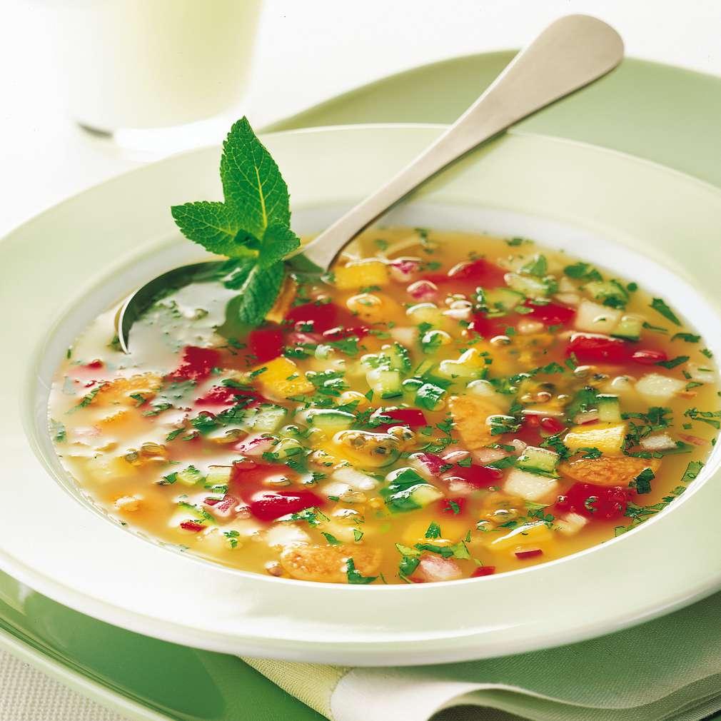 Supă de fructe proaspete