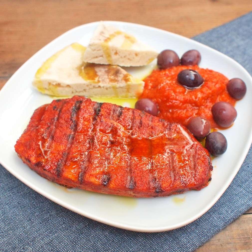 Zobrazit Vepřový steak s paprikovým pyré receptů