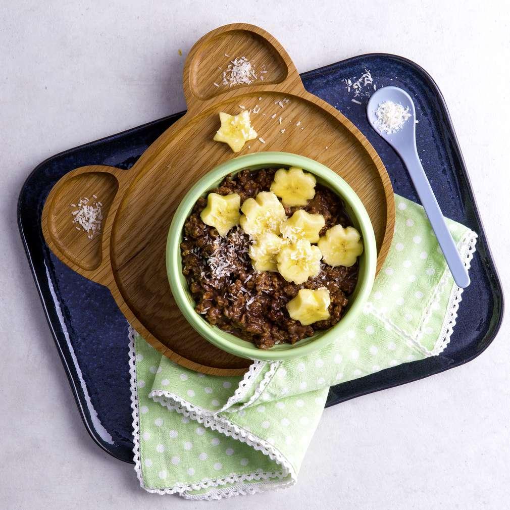 Abbildung des Rezepts Porridge mit Kokosstreusel