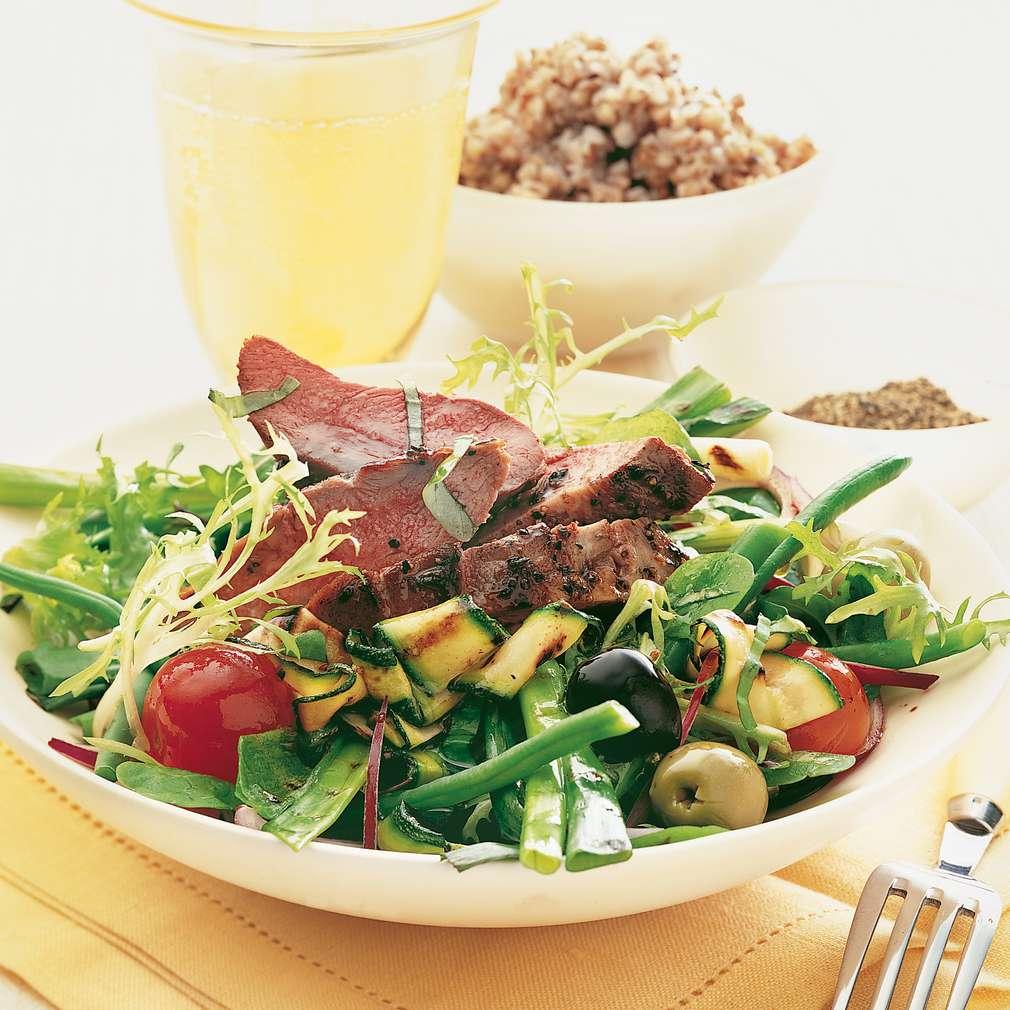 Salată de rață marinată și de cașă