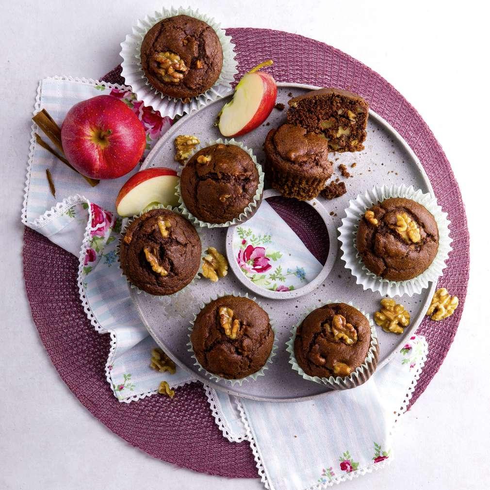 Abbildung des Rezepts Muffins mit Walnüssen und Äpfeln