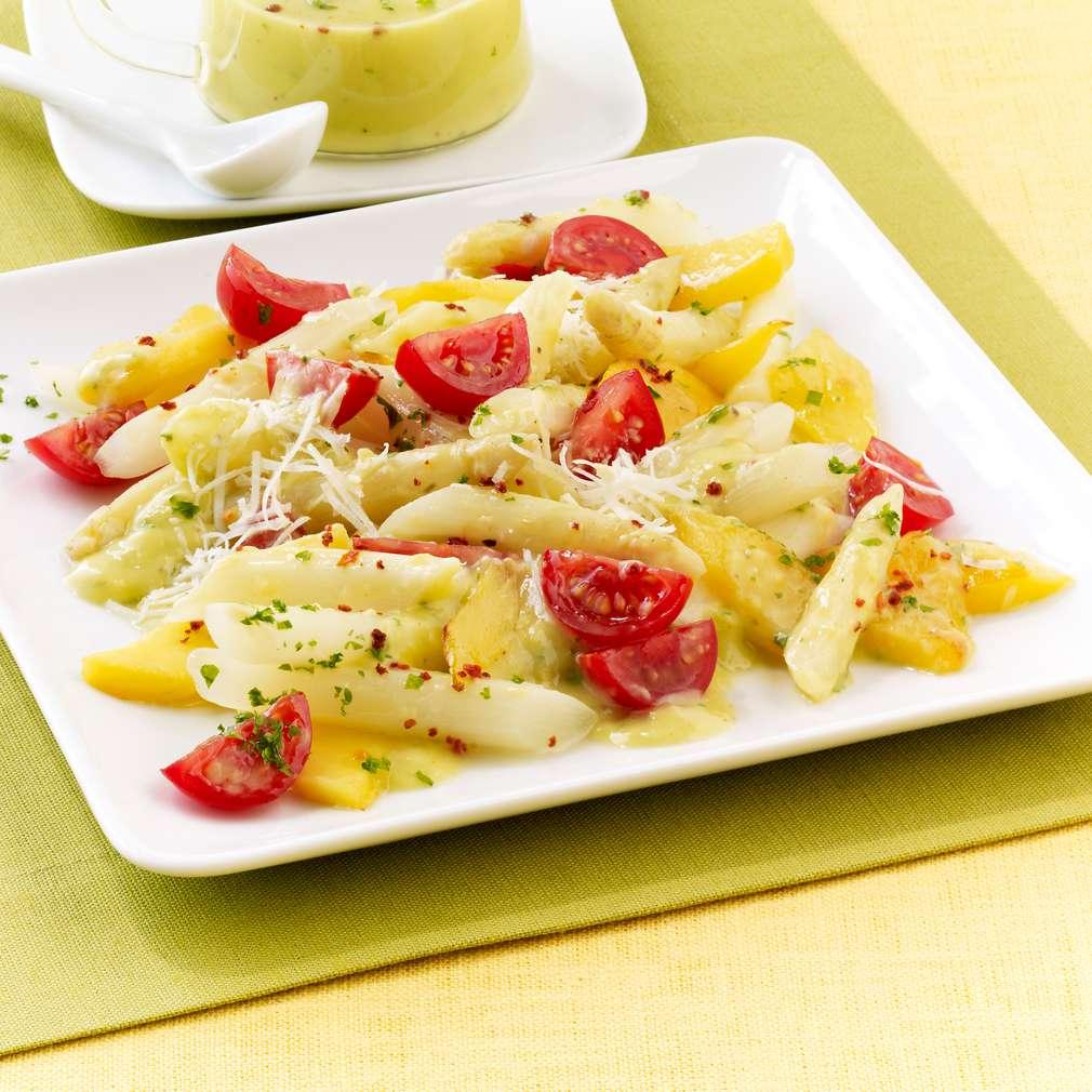 Zobrazit Chřestový salát s mangem a avokádovým dresinkem receptů