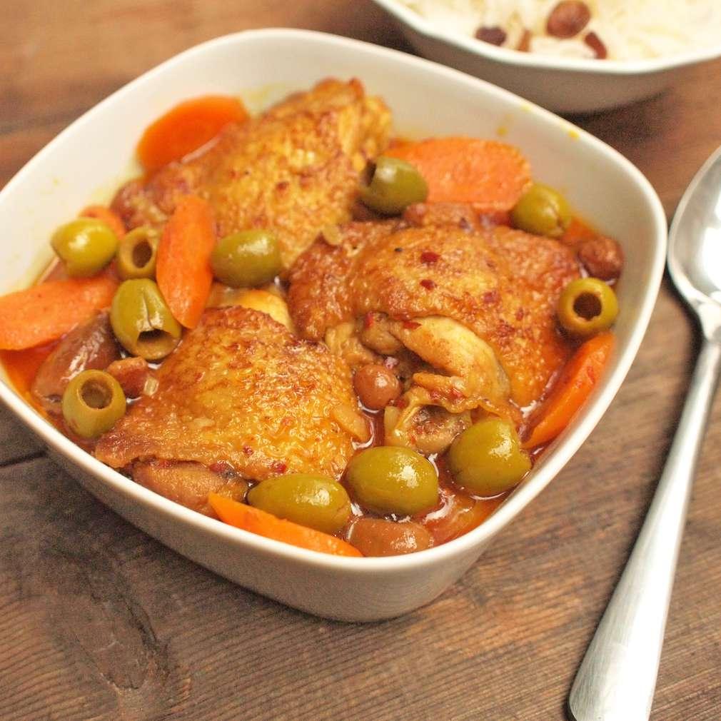 Zobrazit Marocké kuře v jednom hrnci receptů