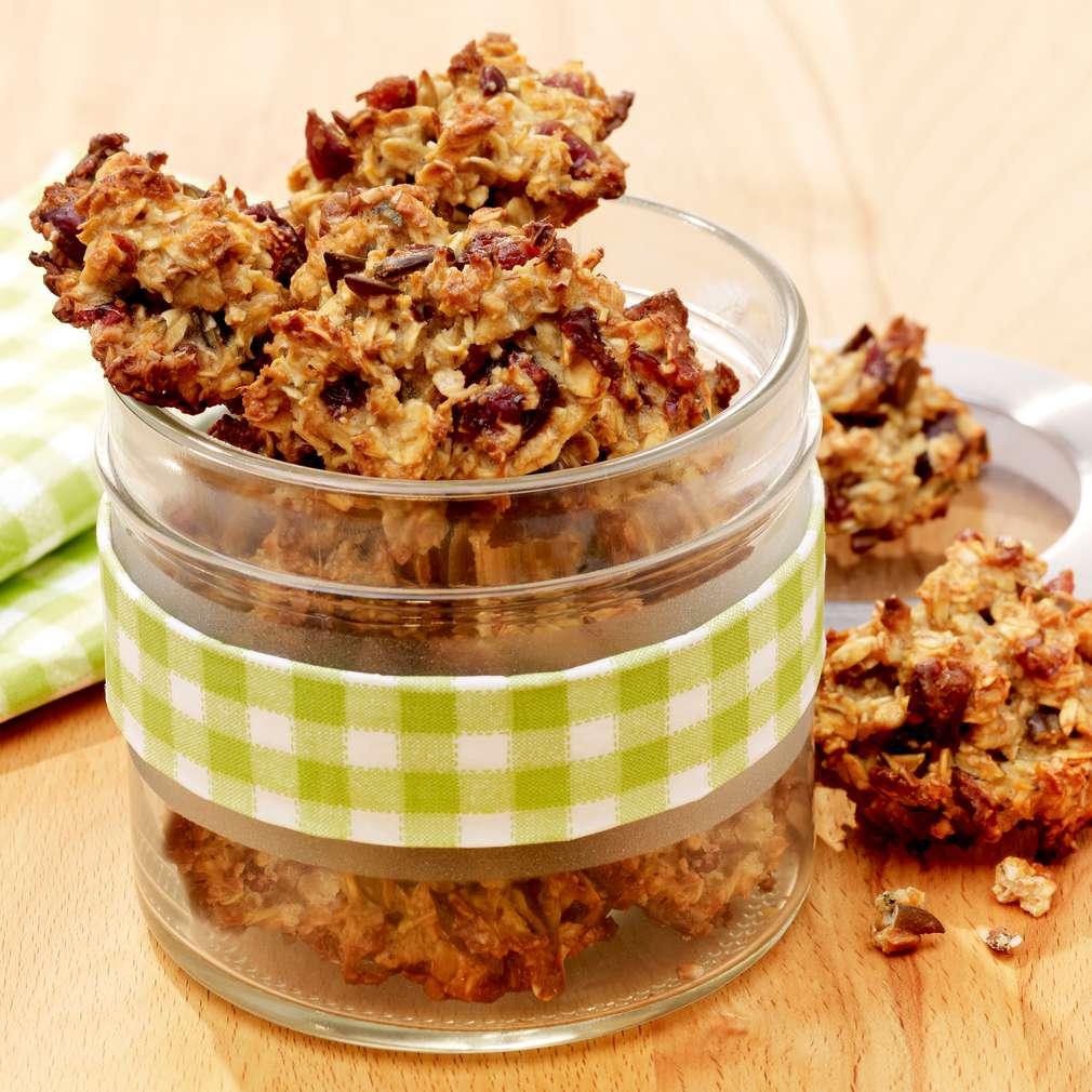 Zobrazit Křupavé müsli sušenky s brusinkami receptů