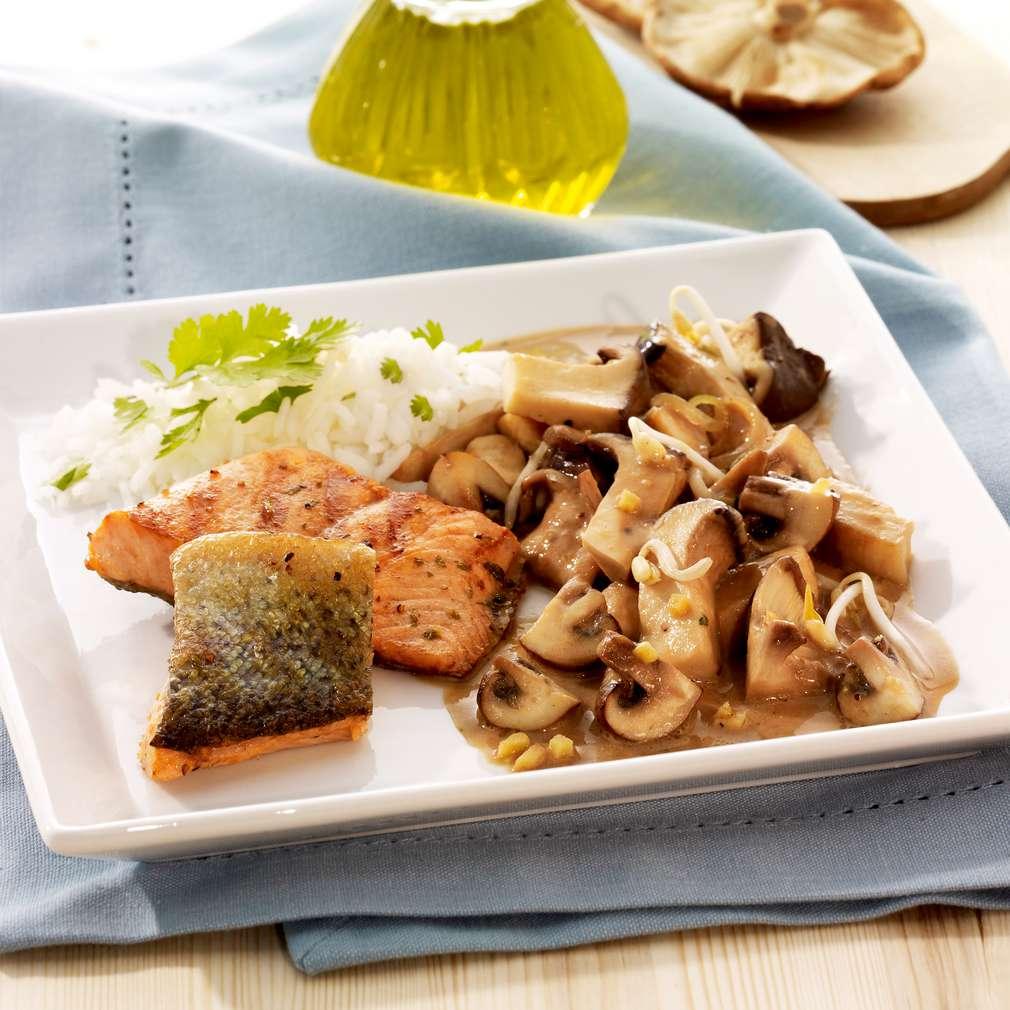 Zobrazit Filé z mořského pstruha s asijskými houbami receptů