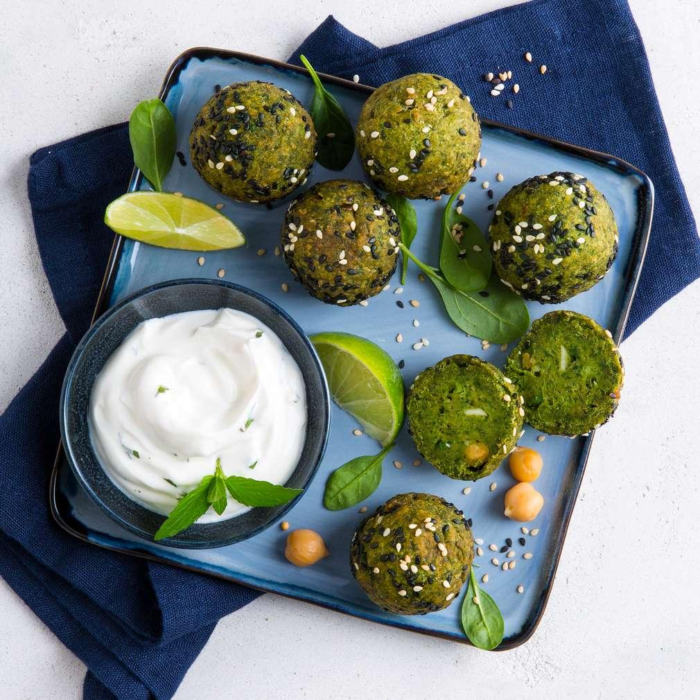 "Abbildung des Rezepts ""Spinat Power Falafel"" - Falafeln aus Spinat und Erbsen"