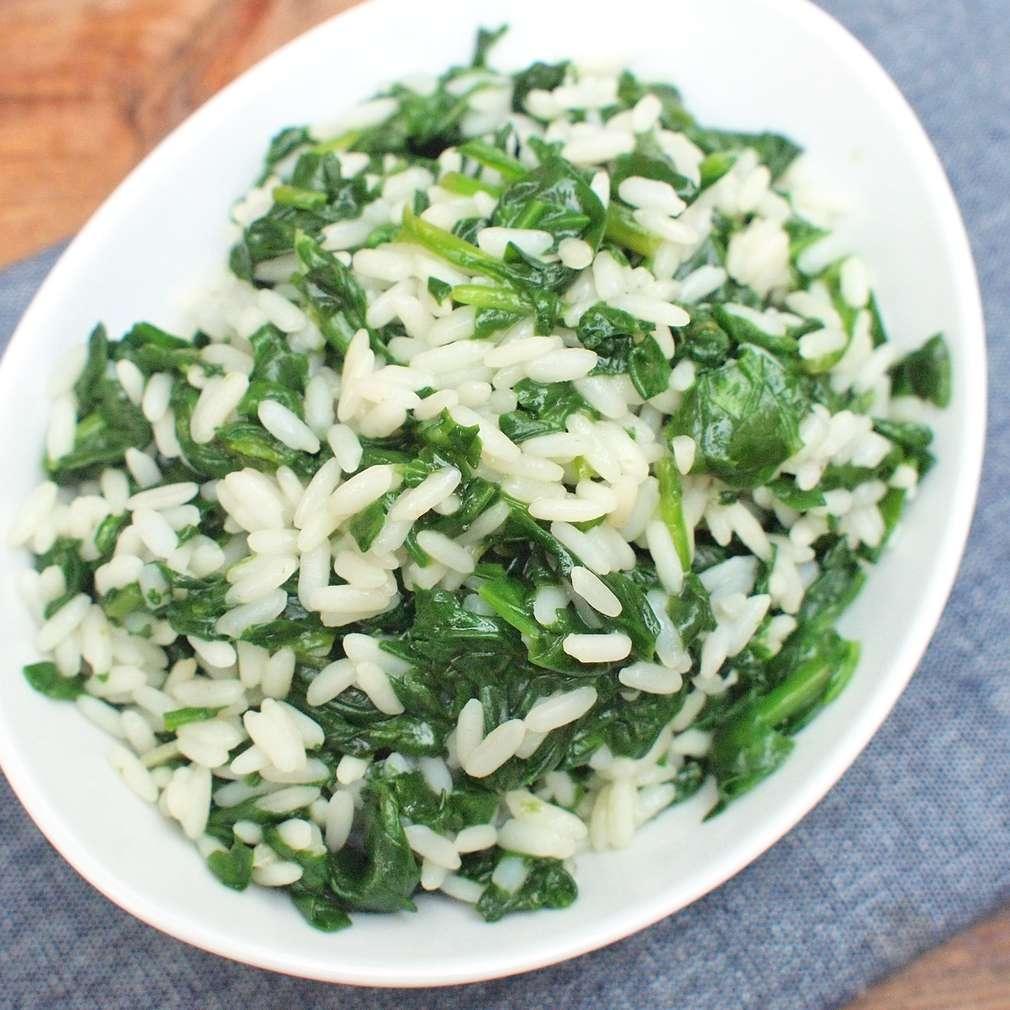 Zobrazit Špenátová rýže receptů