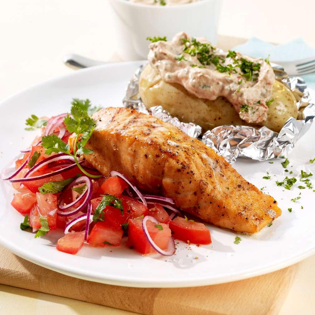 Abbildung des Rezepts Ofenkartoffeln mit Lachs