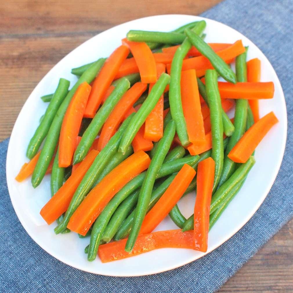 Zobrazit Dušené fazolky s mrkví receptů