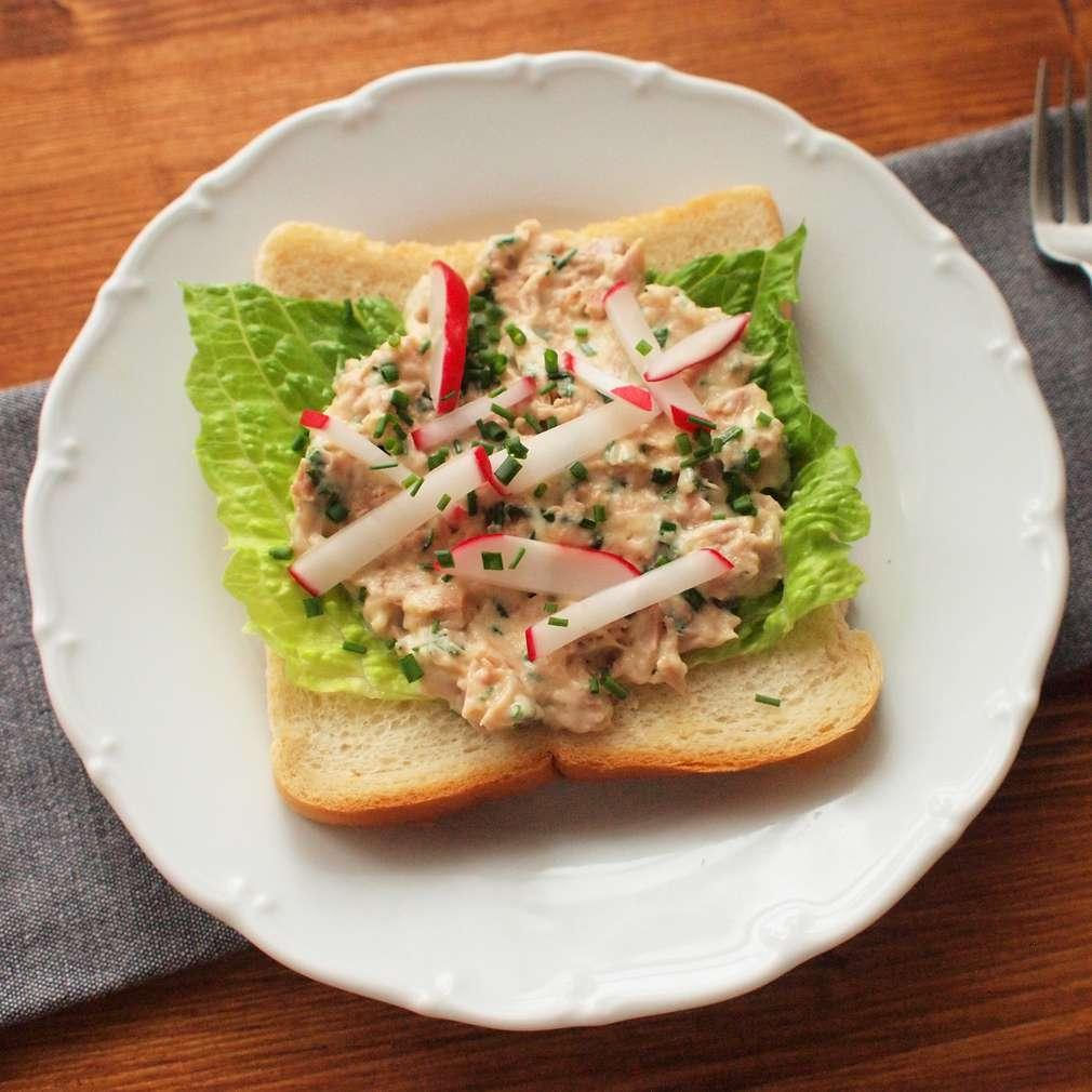 Zobrazit Tuňákové toasty se salátem receptů