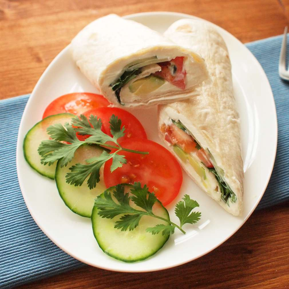 Zobrazit Zeleninový wrap s avokádem receptů