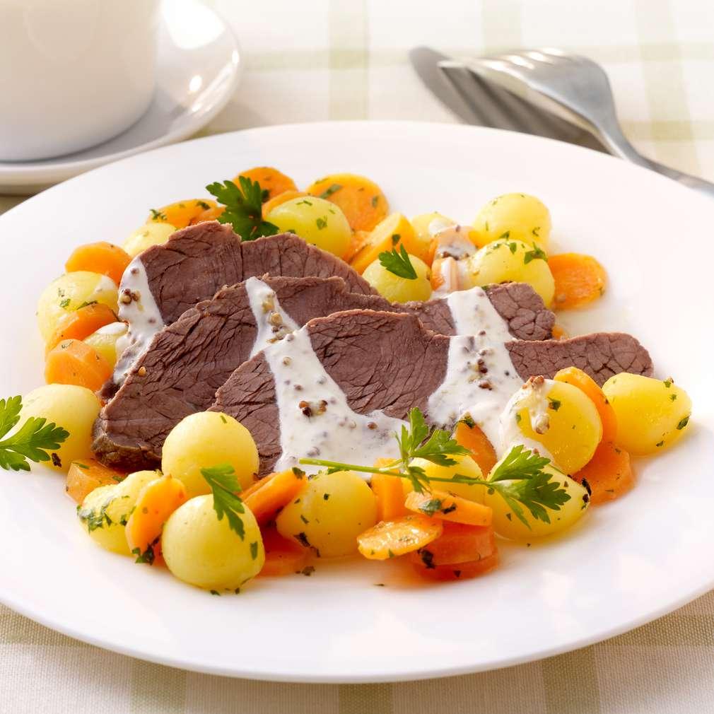 Zobrazit Vařená květová špička s bylinkovými brambory receptů