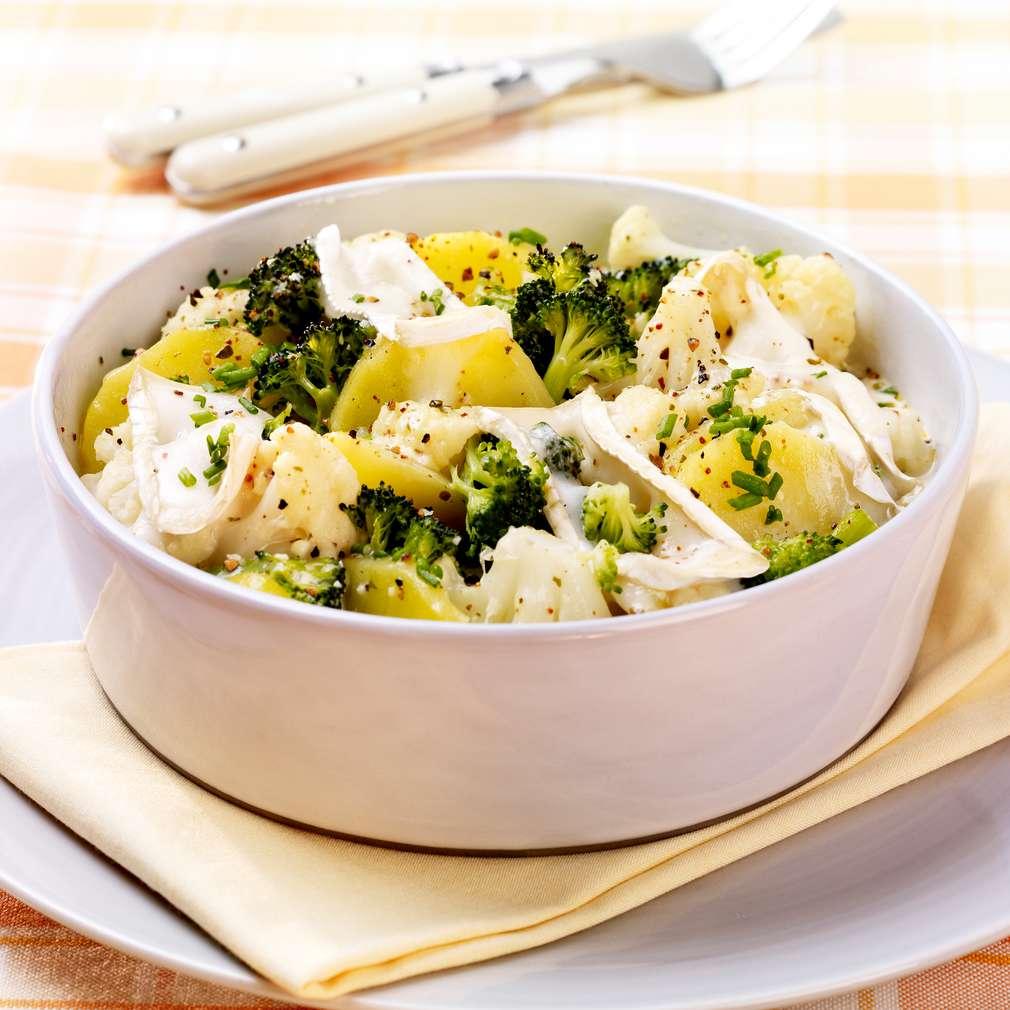 Zobrazit Zapečený květák a brokolice s brambory receptů