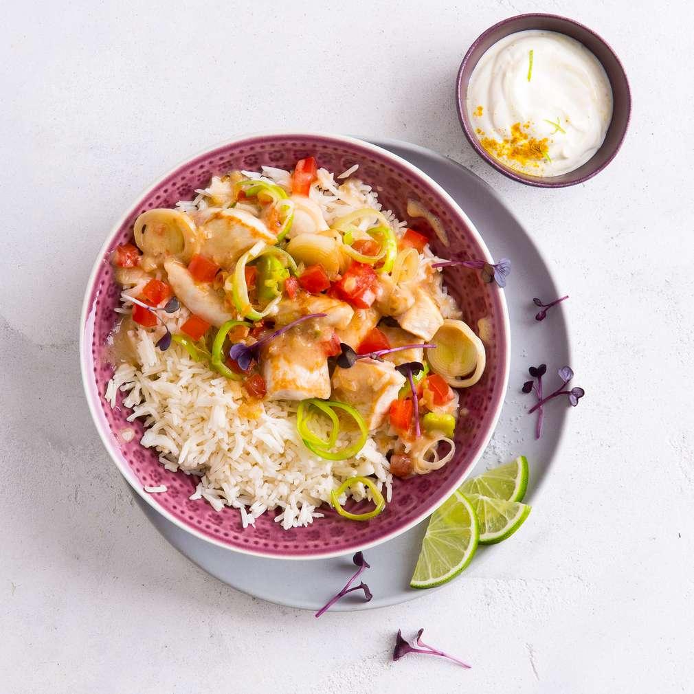 Abbildung des Rezepts Hähnchencurry mit Reis