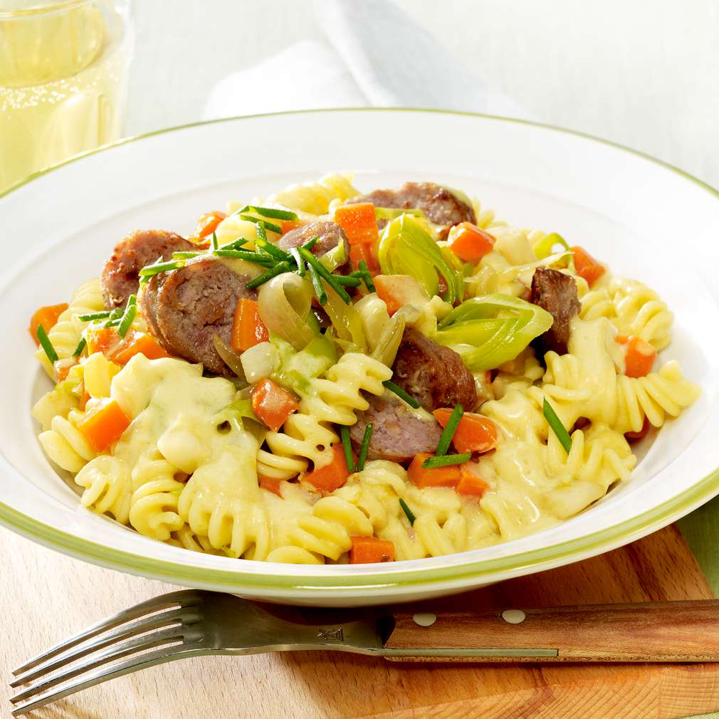 Zobrazit Rychlé zeleninové těstoviny s klobáskou receptů