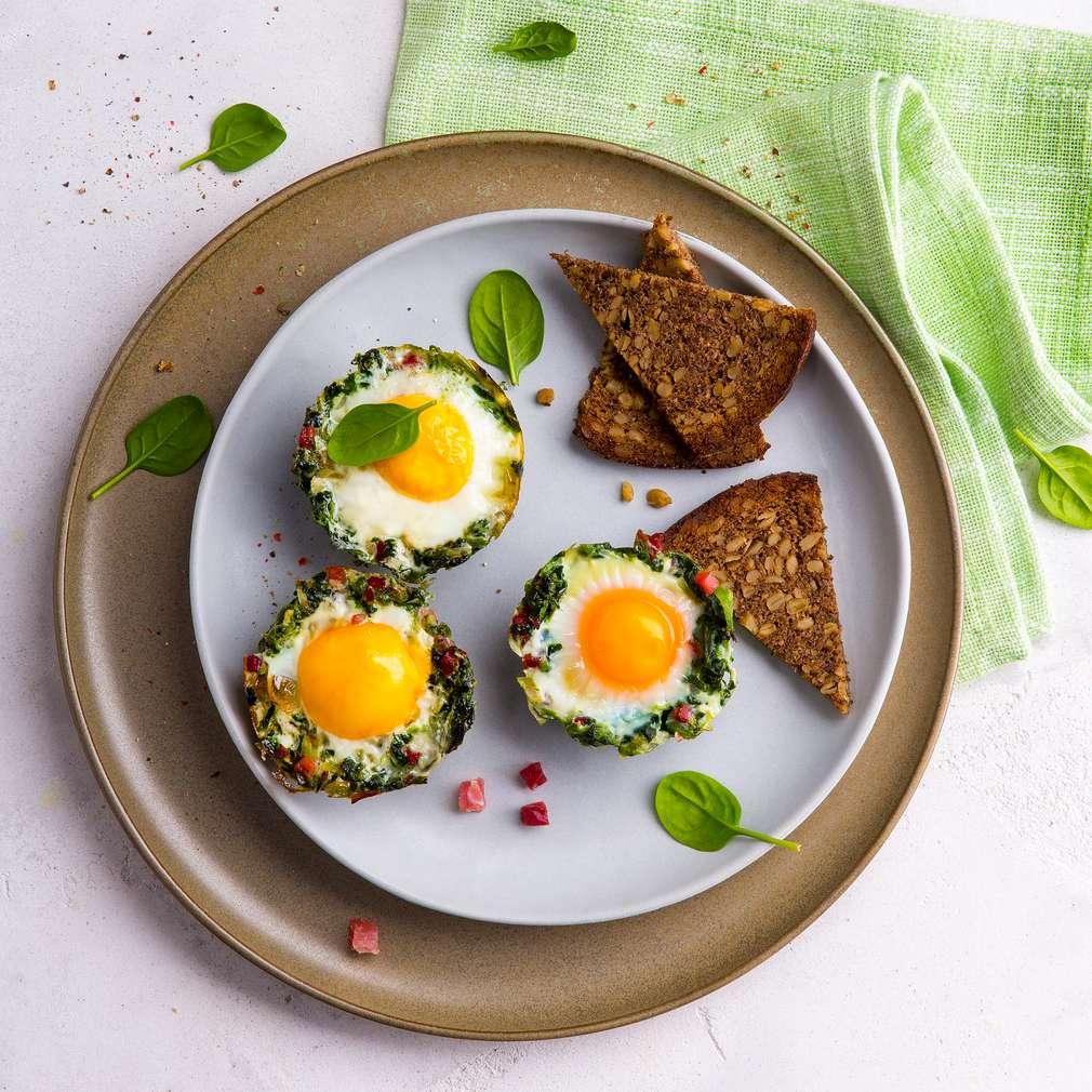 Abbildung des Rezepts Spinatnester mit Ei