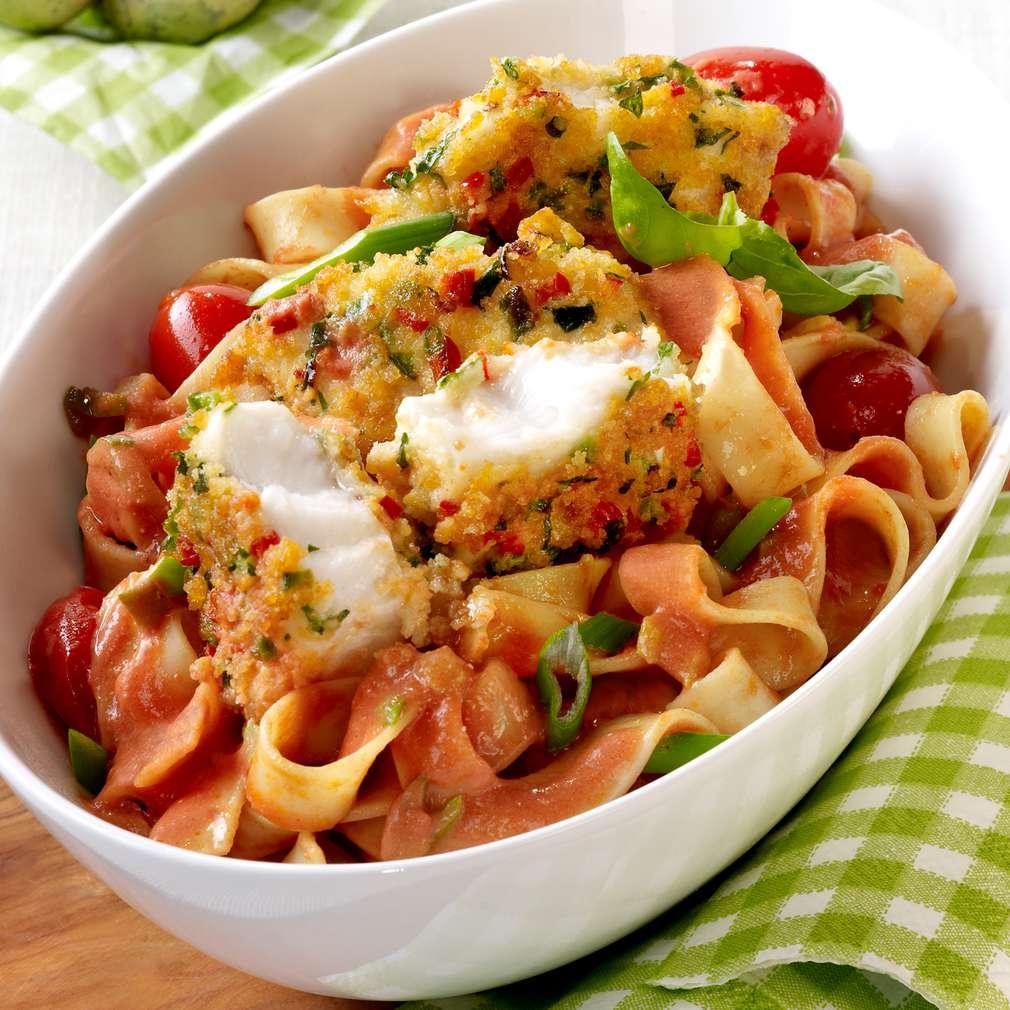 Zobrazit Křupavé filé z pangase s paprikou a rajčaty receptů