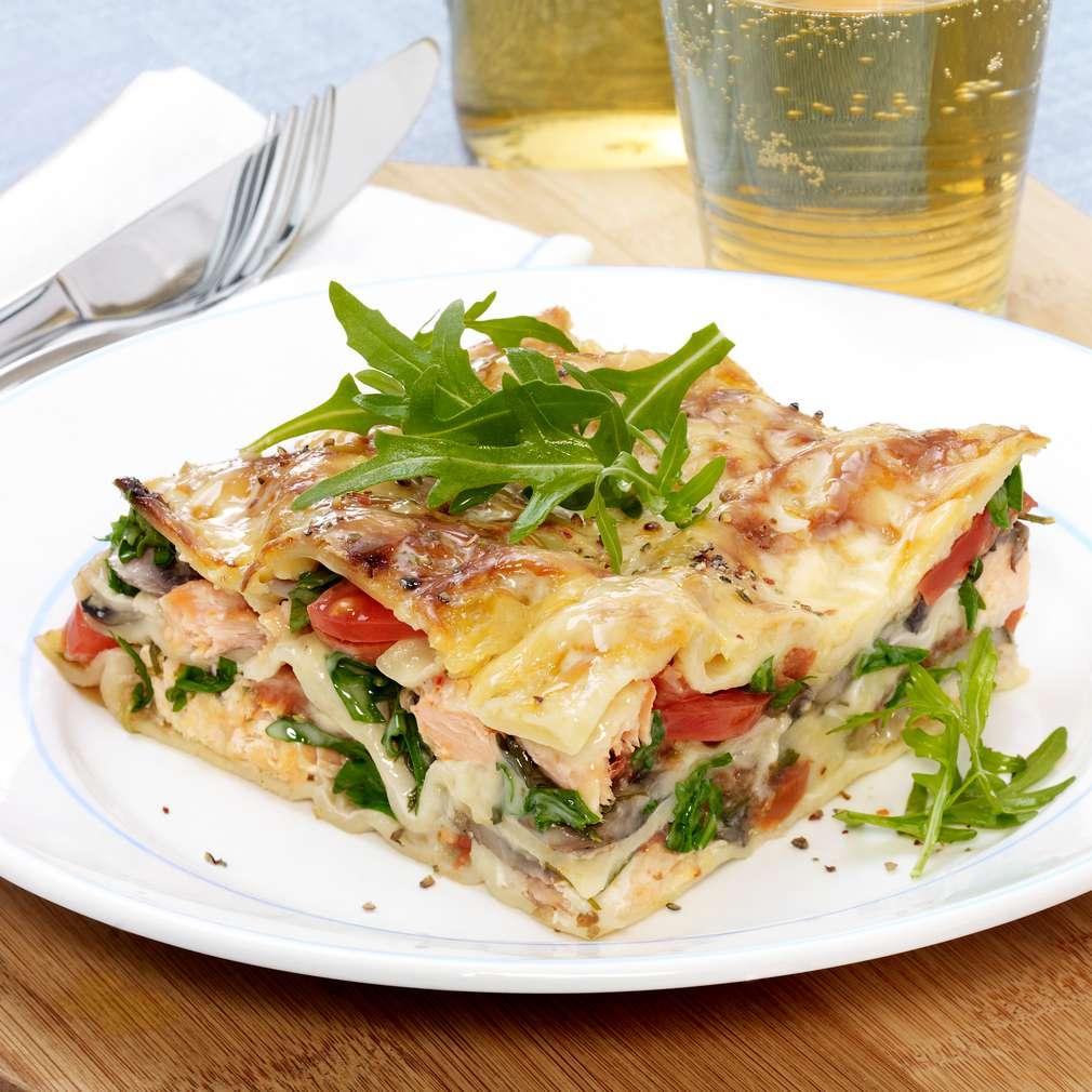 Zobrazit Lasagne s lososem receptů