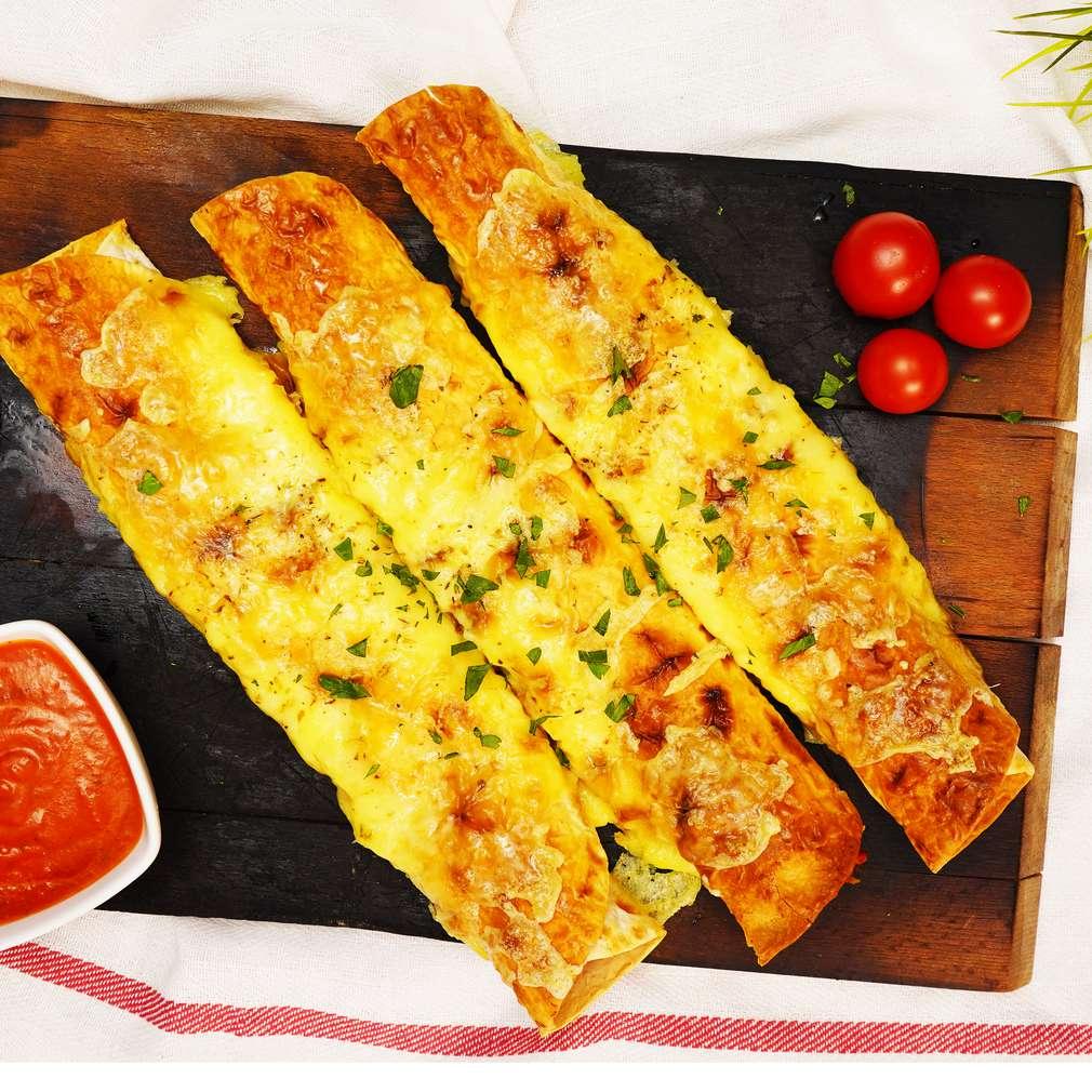 Изобразяване на рецептата Хрупкави арабски питки с пуешко филе