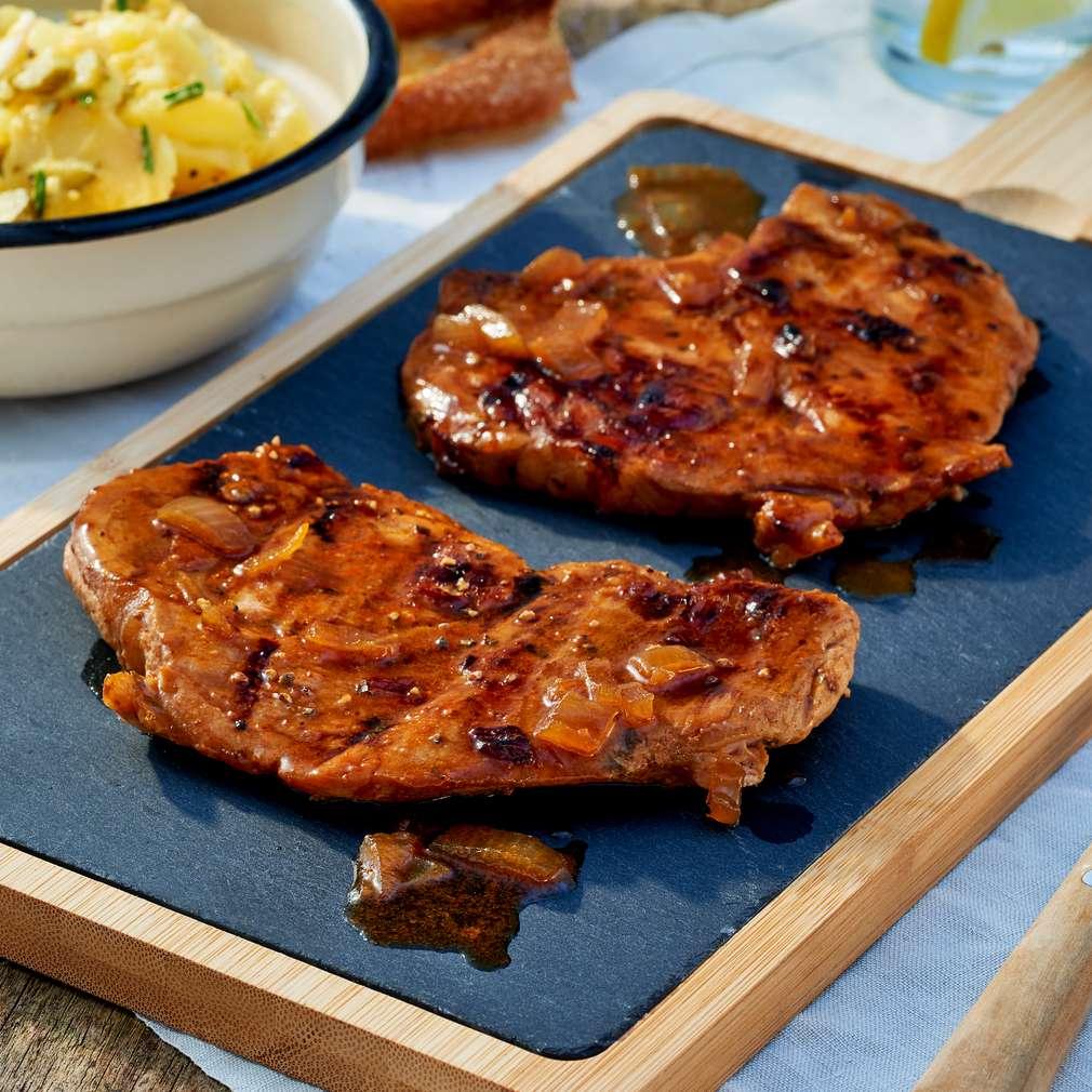 Abbildung des Rezepts Steaks in Malzbiermarinade