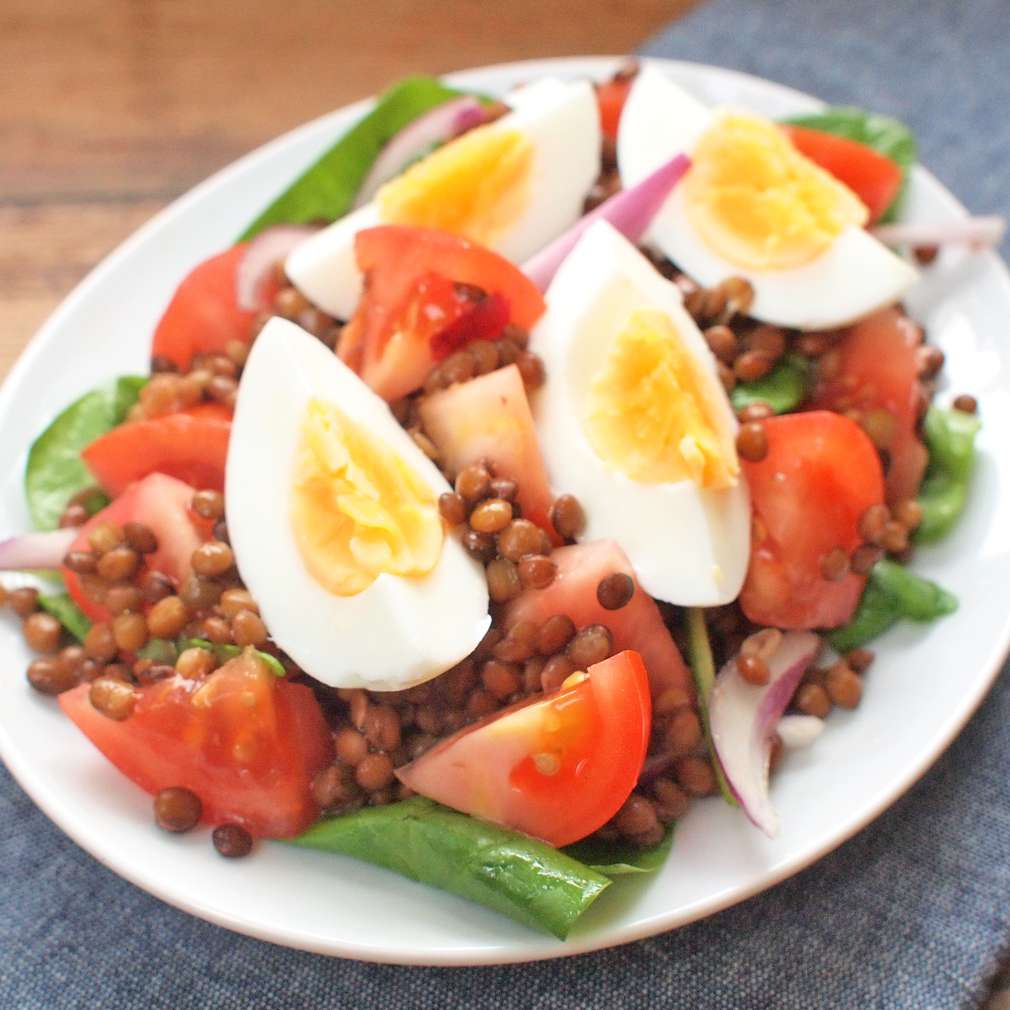 Zobrazit Čočkový salát s vejci receptů