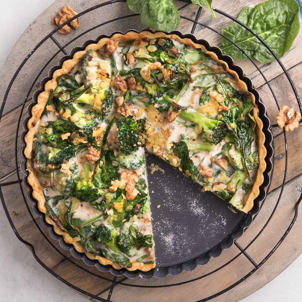 Zobrazit Zelený quiche s bylinkami receptů