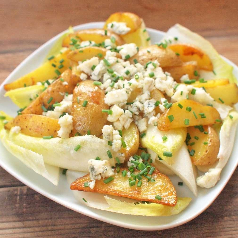 Zobrazit Pečené brambory s čekankou receptů
