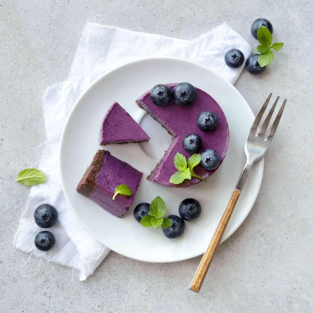 Zobrazit Nepečený borůvkový dortík receptů