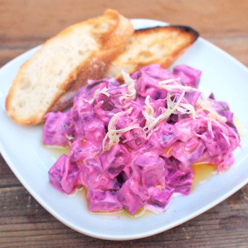 Zobrazit Krémový řepný salát s křenem receptů