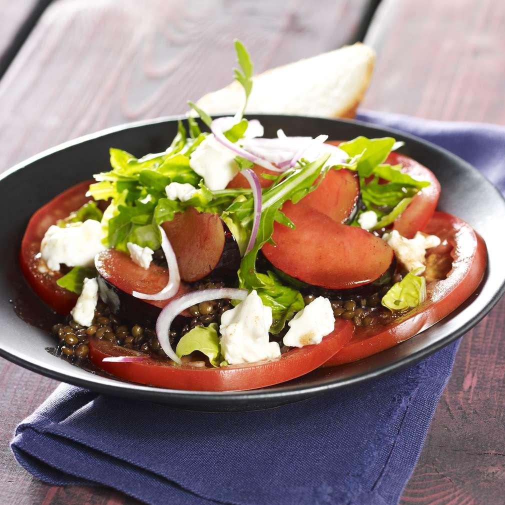 Abbildung des Rezepts Linsen-Pflaumen-Salat mit Feta