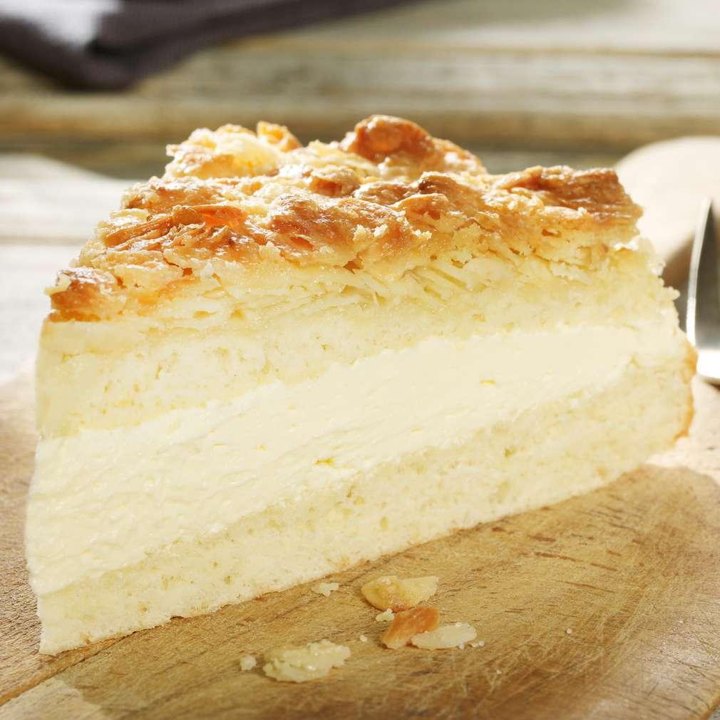 Zobrazit Rychlý mandlový dort s vanilkovým krémem receptů