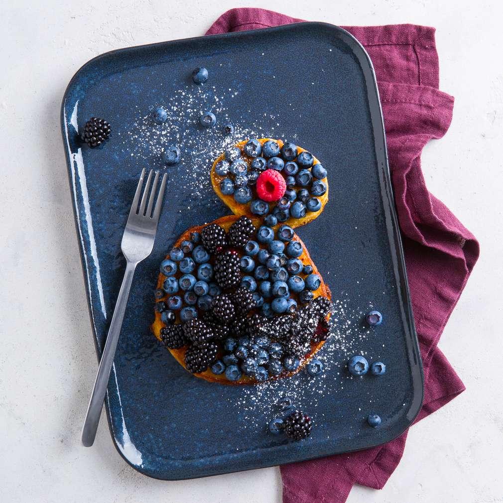 """Abbildung des Rezepts """"BB-9E Pfannkuchen"""" - Pfannkuchen mit Beeren"""