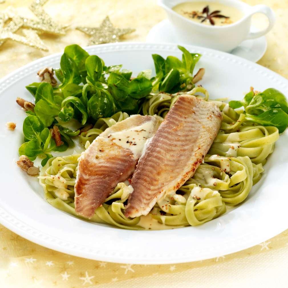 Zobrazit Rybí filé s hořčičnou omáčkou s anýzem receptů