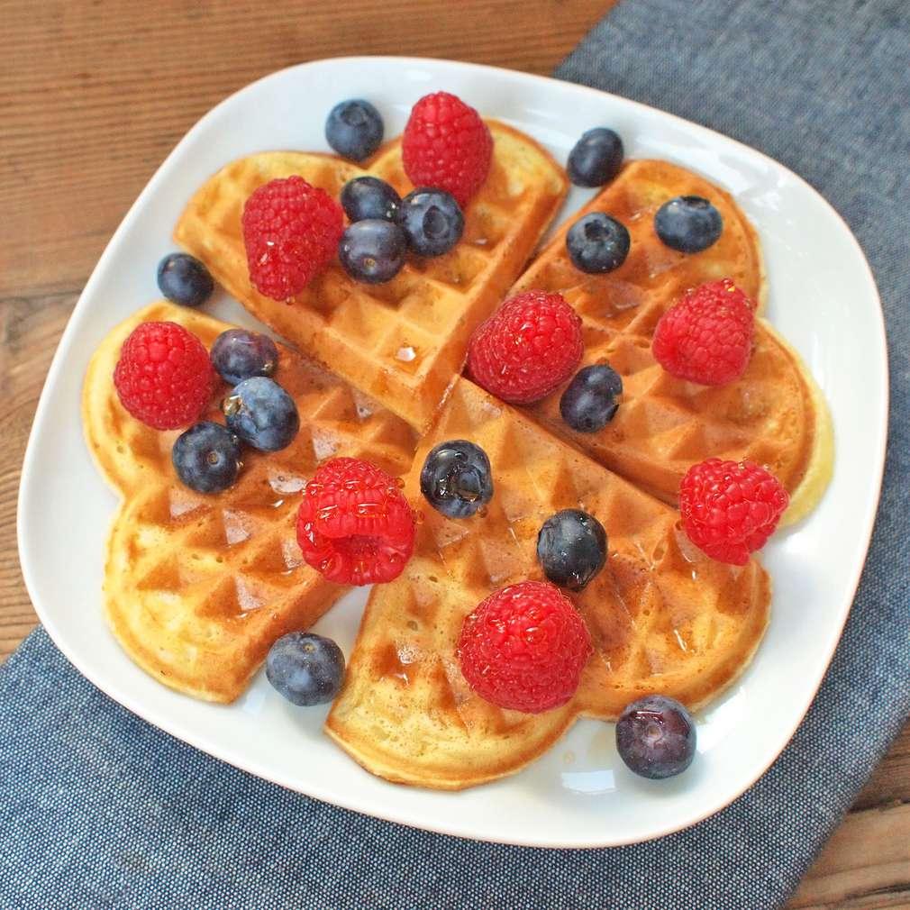 Zobrazit Vafle s ovocem receptů