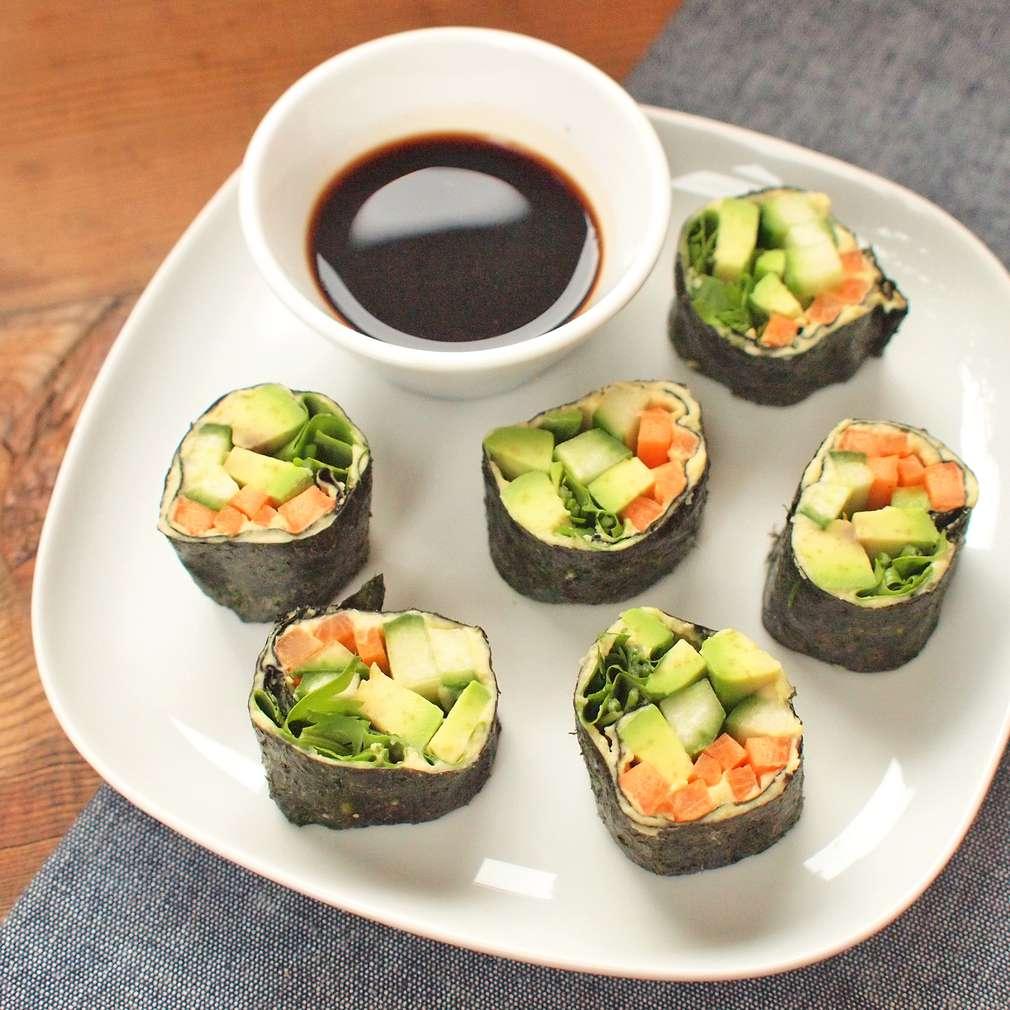 Zobrazit Raw sushi s avokádem receptů