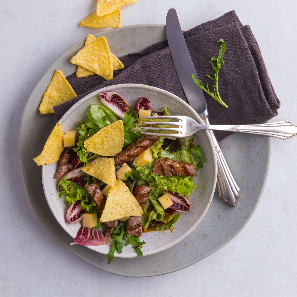 Fotografija recepta BBQ salata s junetinom