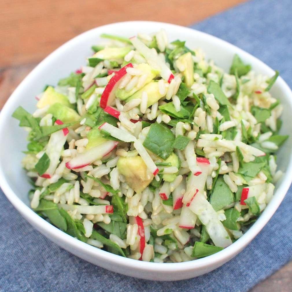 Zobrazit Rýžová miska s avokádem receptů