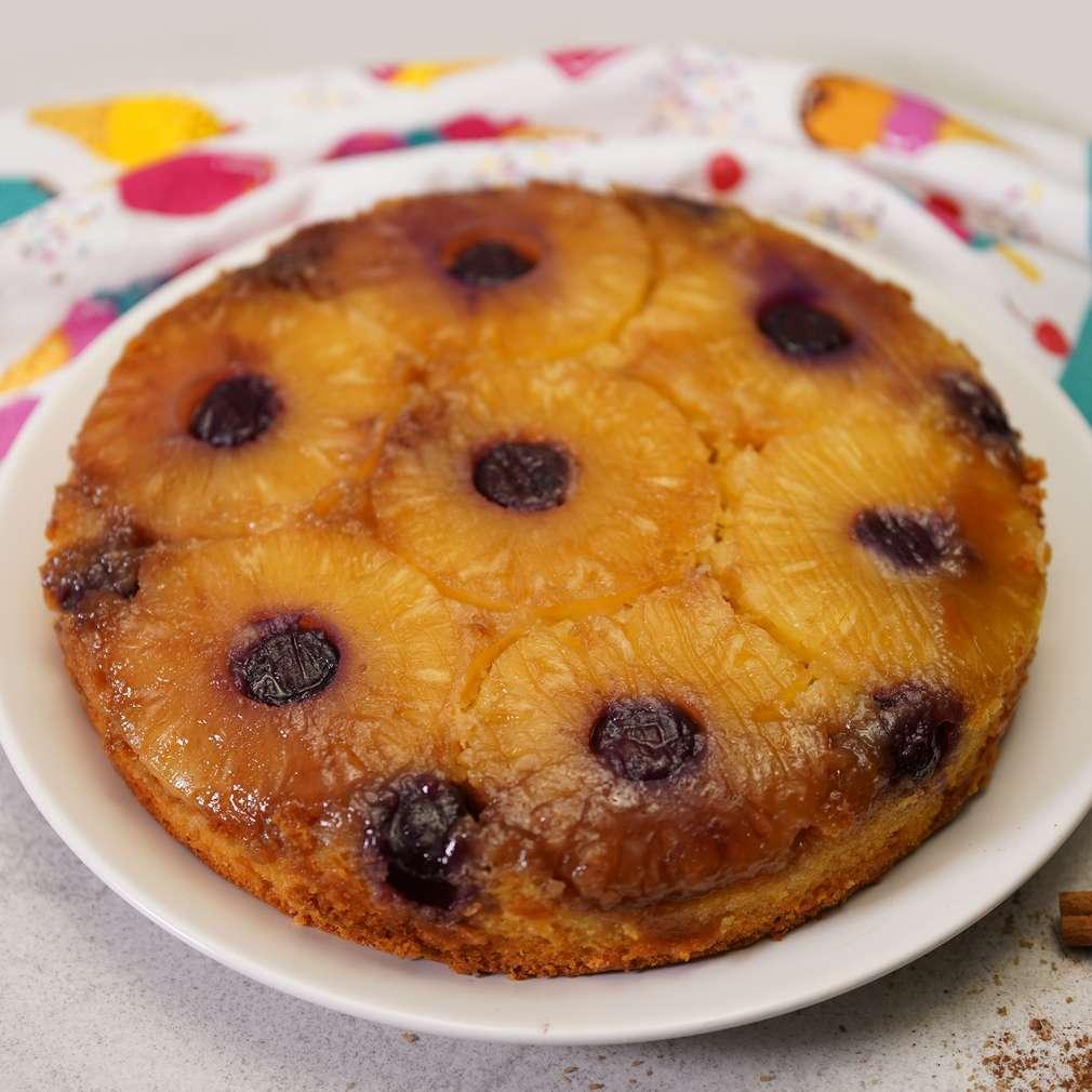Изобразяване на рецептата Обърнат кейк с ананас